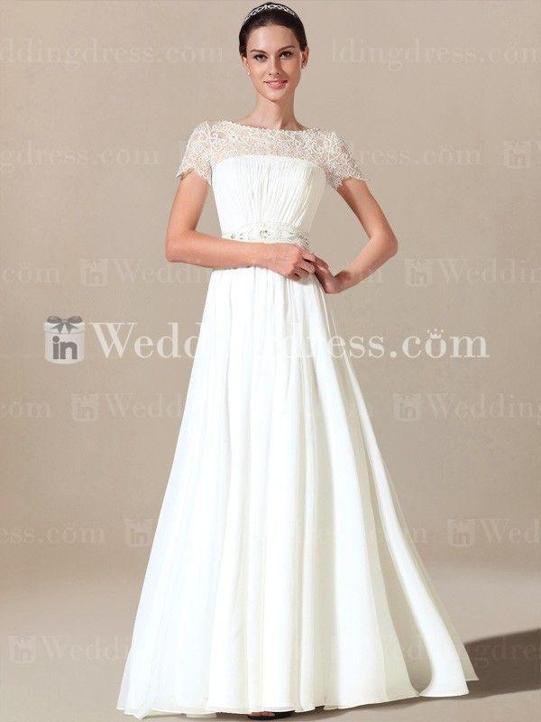 Simple Wedding Dress With Short Sleeves Sv005 Wedding Dresses