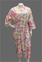 Winter Floral Satin Dressing Gown-sleepwear-Lisa's Lacies