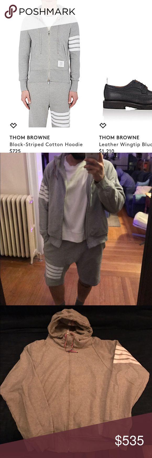 Thom Browne zip hoodie Thom Browne Zip Front Hoodie Size 4 gently worn and laundered $525 Thom Browne Sweaters