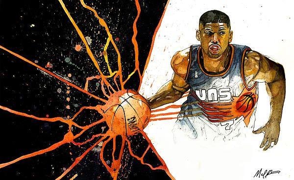 Kevin Johnson by Michael Pattison, Sports Artist