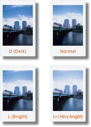 A little tutorial on the settings of our Instax Mini 90 | D (Dark)/Normal/L (Bright)/L+ (Very bright)