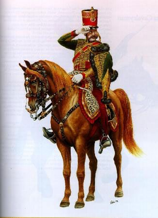 Officer of the 7th Hussars, French