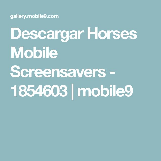 Descargar Horses Mobile Screensavers - 1854603   mobile9