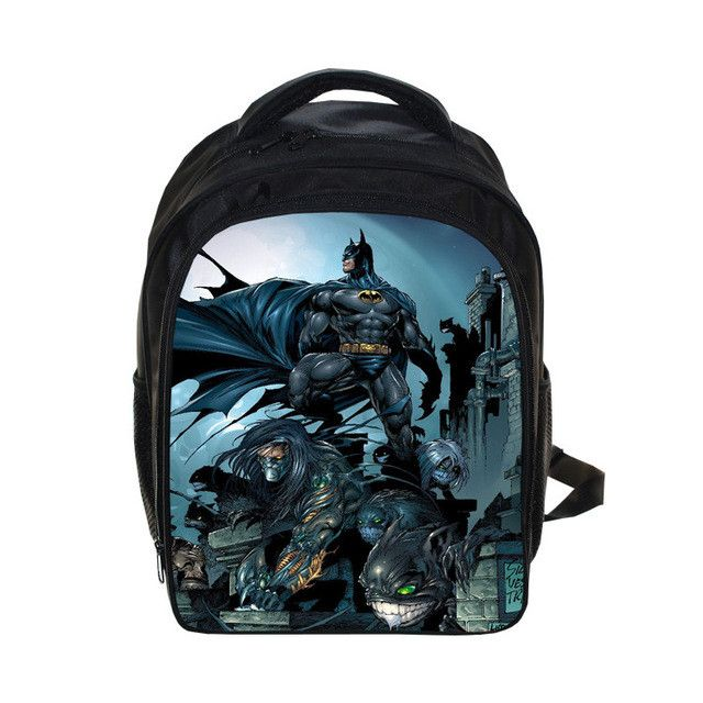 Anime Spiderman Backpack For Teenage Girls Boys Batman School Bags Spiderman/Batman Printing Backpacks Bagpack Kid Gift Bookbag