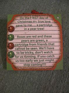 secret santa instructions poem