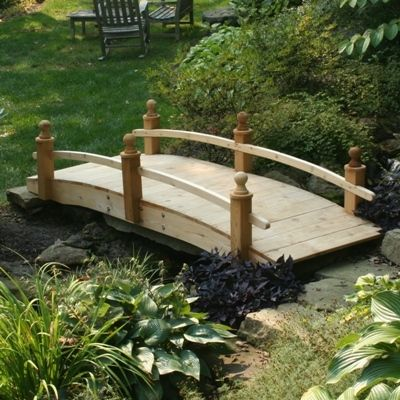 placed over your pond stream or your japanese style dry riverbed our wooden bridges - Red Japanese Garden Bridge
