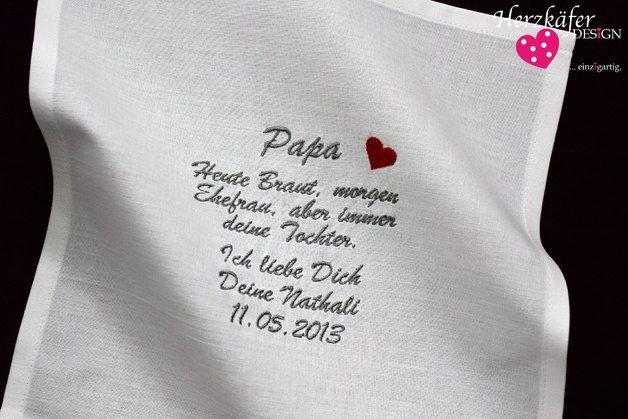 Weiteres - HOCHZEIT ♥ Besticktes Taschentuch ♥ Freudentränen - ein Designerstück von Herzkaefer-Wedding bei DaWanda