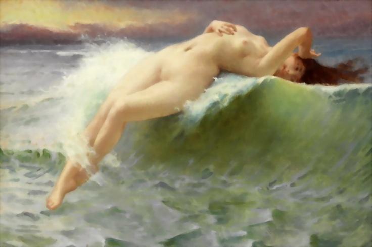 The Wave La Vague Femme Classic Art Guillaume Seignac