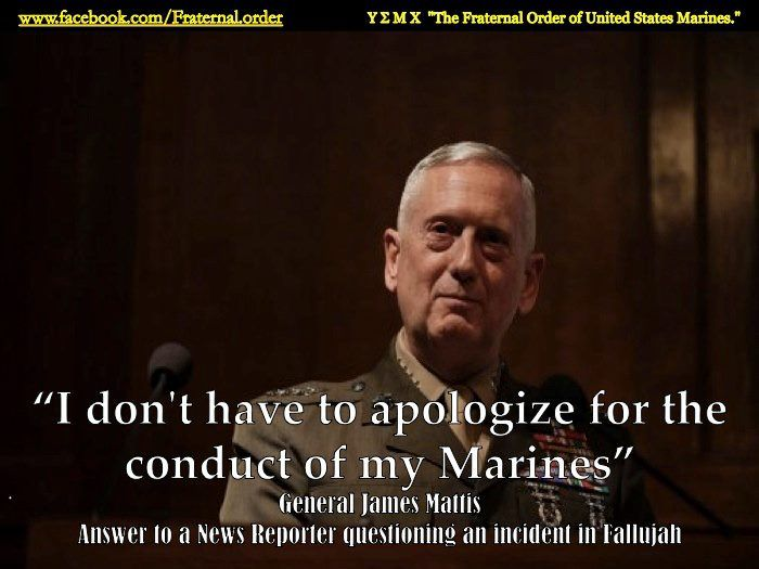 "general mattis.......LOVE THIS MAN......A REAL TRUE AMERICAN........SOMEONE TO RESPECT AND ADMIRE......""GOD BLESS EM""."
