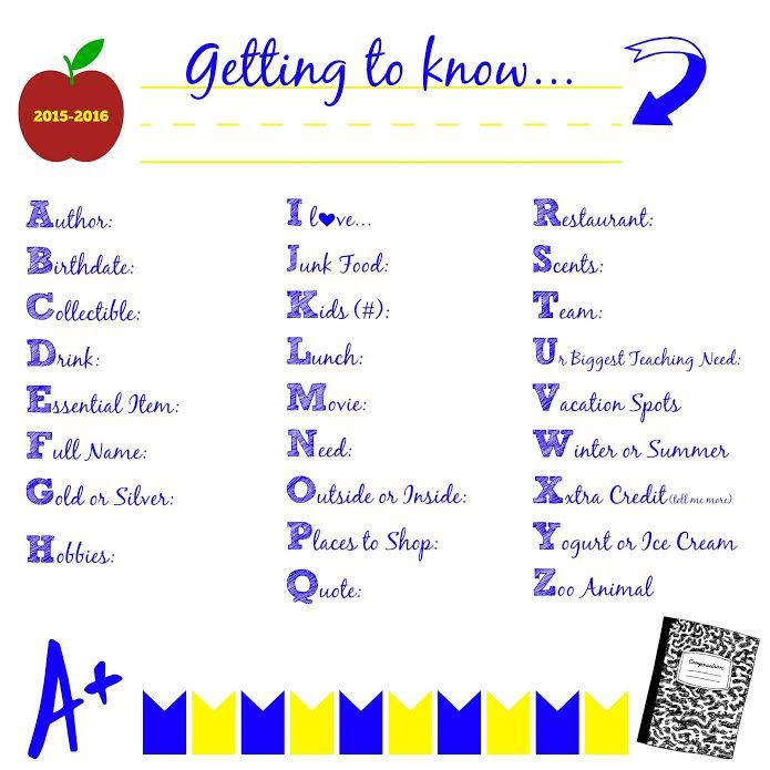 Teacher Questionnaire. Getting To Know You.  Back To School. #PicMonkeySmarts #EDUSpin