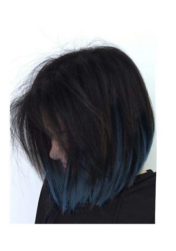 20 coolest blue-black hair tones, #Black #Blue #Coolest #Hair #Shades  #black #coolest #shades #tones