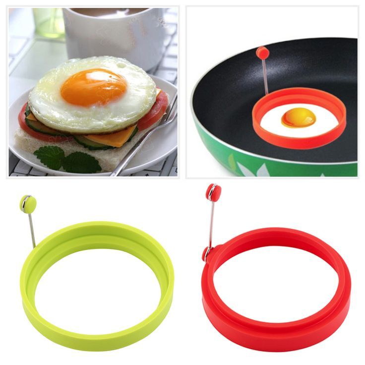 Round Silicone Egg Ring Mold #kitchen #home http://kgspot.com/index.php/product/round-silicone-egg-ring-mold/