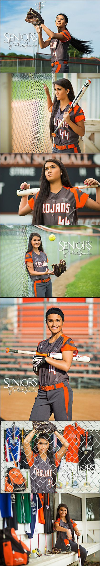 Softball theme senior pictures.    Fly Ball: Senior picture ideas for girls. Class of 2016 Senior Model Trisha Kunze in Pleasantville, IA #softballseniorpictureideas #softballseniorpictures #seniorsbyphotojeania