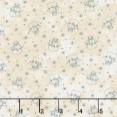 Snowman Gatherings III - Snow Friends Tallow Blue Yardage - Primitive Gatherings - Moda Fabrics —  Missouri Star Quilt Co.