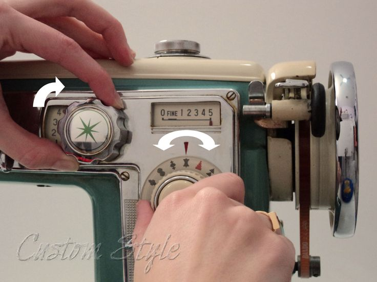 How To Turn The Stitch Selector On Wizard Machine