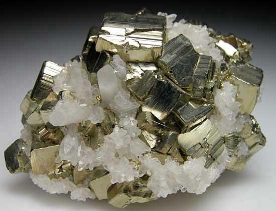 Pyrite and Quartz: Crystals Gemstones Fossils, Minerals Gems Elements, Rocks Minerals, Geo Stones Jewels, Minerals Rocks, Rocks Stones Mie Mine, Mineral Rocks, Unique Colorful Stones, Minerals Stones Gems N Rocks