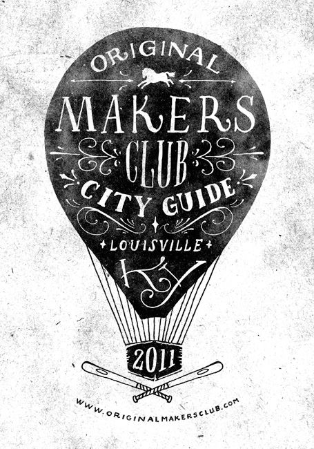 Cover design and illustration for Original Makers Club City Guide by Jon Contino