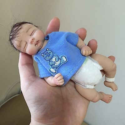 OOAK Polymer Clay Baby Boy Minature Art Doll by Joni Inlow RESELL