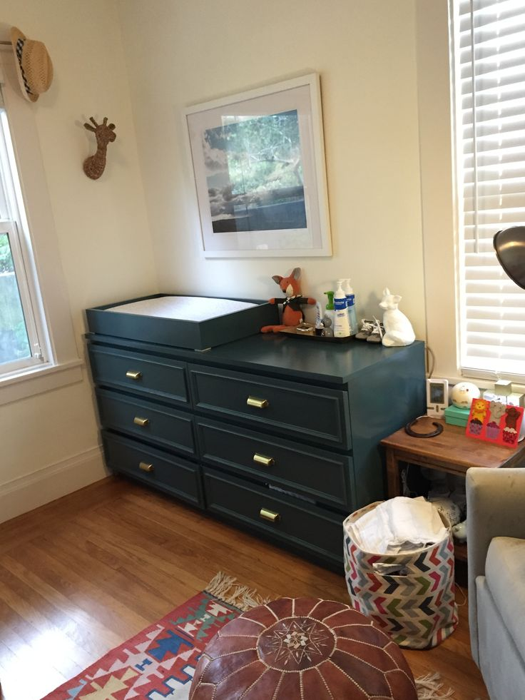 PUT MY 2 MALMS TOGETHER PAINT CANINET YEAL BLUE. WOOD CONTACT PAPER ON DRAWERS