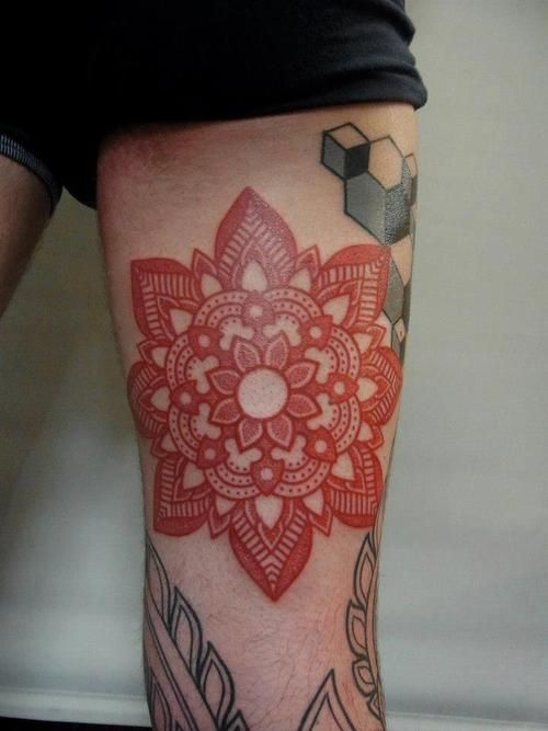 mandala or snowflake? Love it either way //this particular piece isn't for me, but I love the red