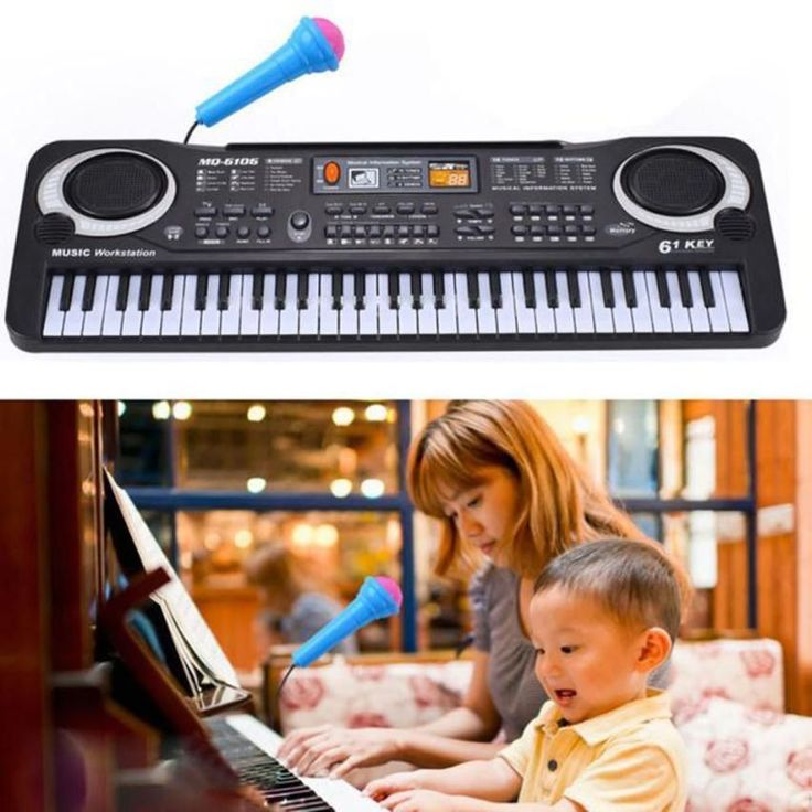 61 Keys Digital Music Electronic Keyboard Key Board Gift Electric Piano Gift with Microphone Music Instrument toys for children
