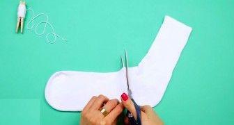 Creëren met een oude sok. Het resultaat? Wauw echt uitzonderlijk!!!
