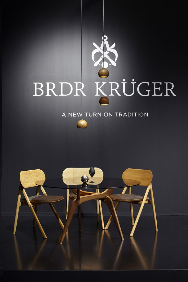Brdr. Krüger proudly presents some of our furniture darlings: TRIIIO Table, Theodor dining chair and Lune Lamps! #hansbølling #oeostudio #sverreuhnger #brdrkruger