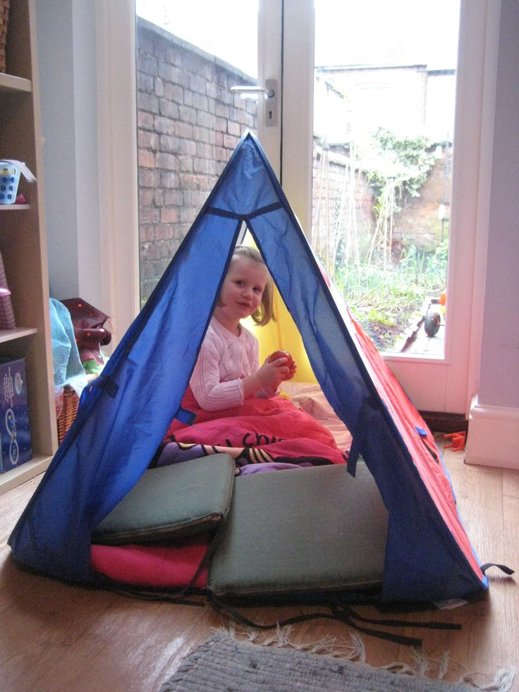 Story tents:  why not transform an indoor or outdoor play area with a story tent? -- Want to know more, click on the image. #TipsForCamping