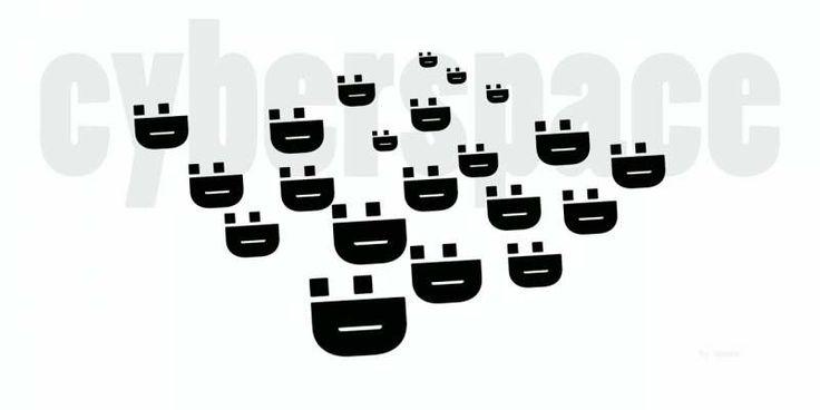 Emoticones III :D Cyberspace. Afiche original.
