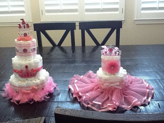 Princess Diaper Cake Baby Shower Centerpiece Baby Diva three tier other colors and sizes too on Etsy, $40.00