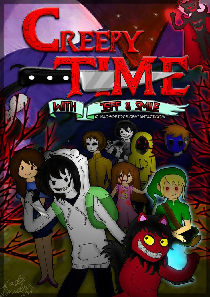 Creepy Time with Jeff and Smile -COVER COMIC by NadsDeidre on DeviantArt