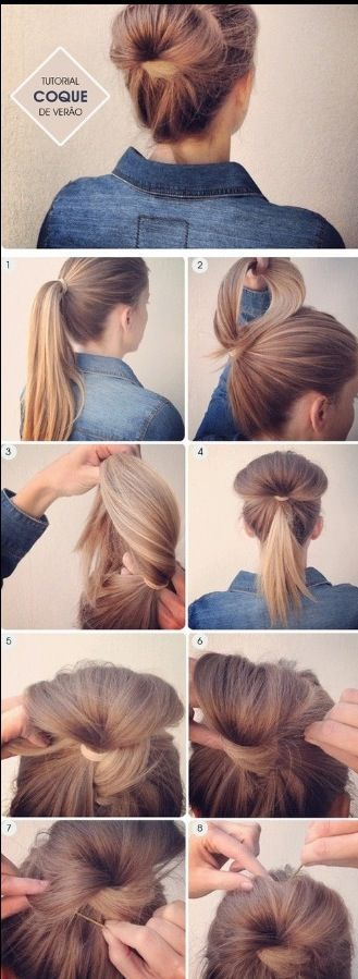 Cute easy bun! Might be fun to try something different.