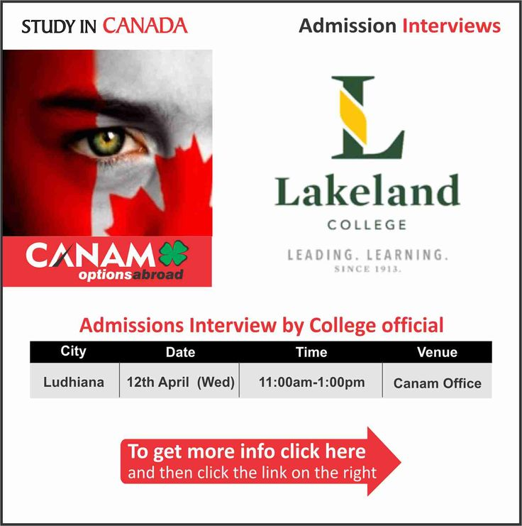 Study in #Canada - Lakeland College. For complete information & enrolment,  Register Today