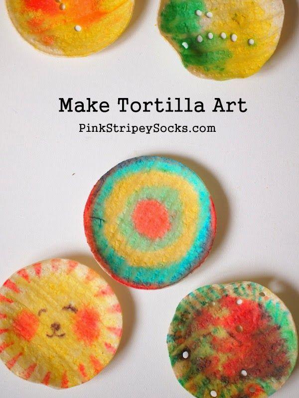 make tortilla artwork- easy, edible, and fun!