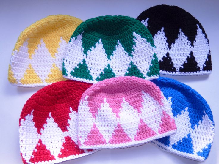 Power Rangers Beanie by DaydreamCrochet on Etsy, $14.99