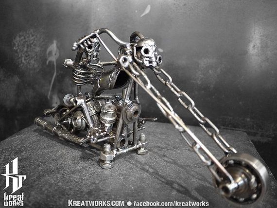 Metal Skeleton Rider small item by Kreatworks on Etsy, $85.00