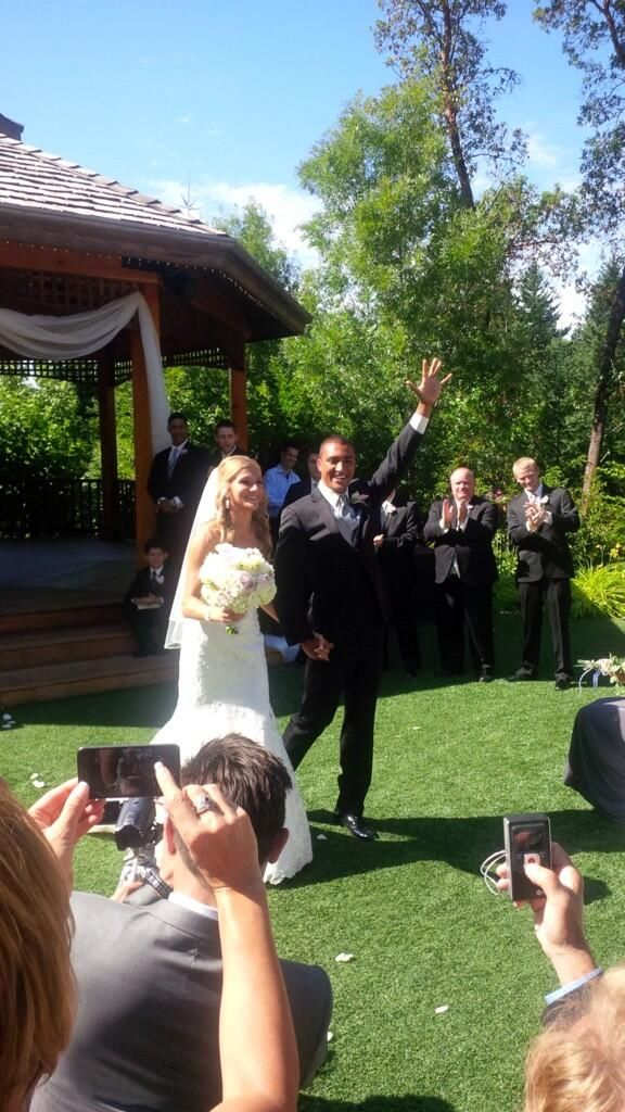 Olympic gold medal winning decathlete Ashton Eaton married Canadian Olympic heptathlete Brianne Theisen