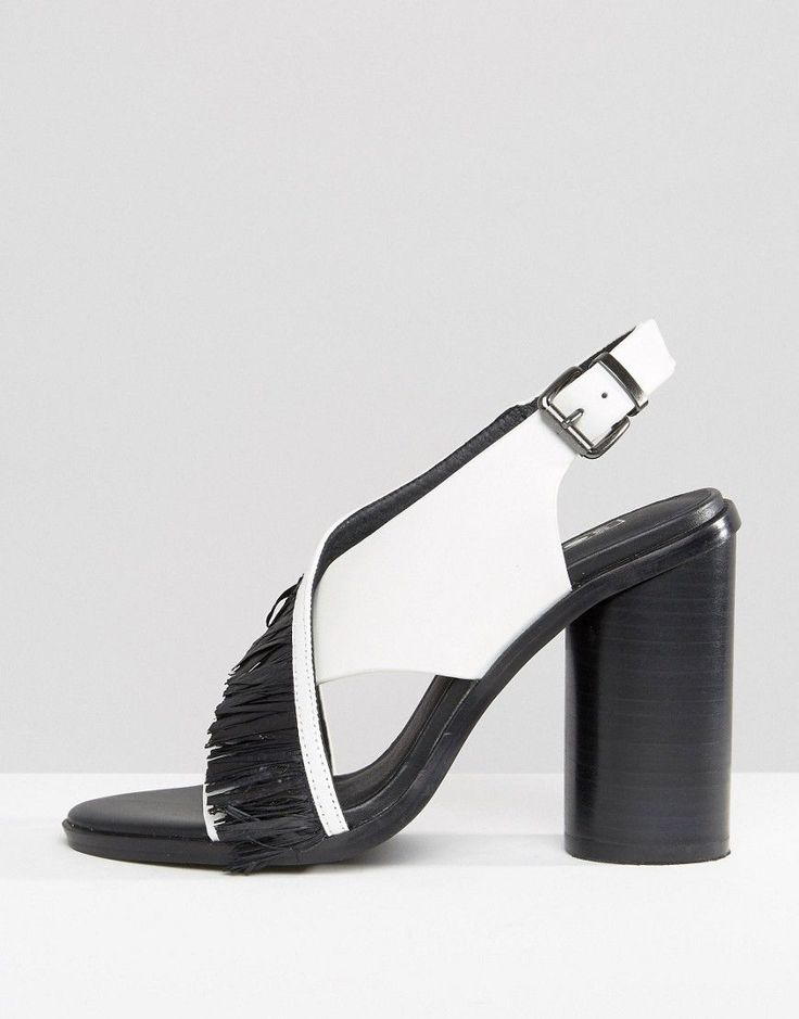 Sol Sana Casey Heel Cross Strap Leather Heeled Sandals - White