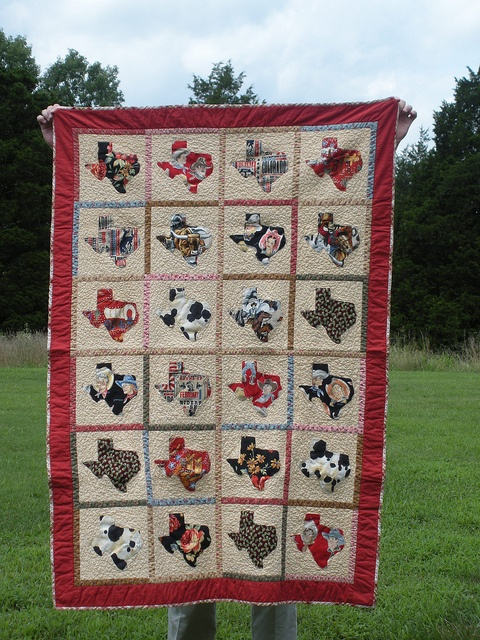 I SOOOO want to do this one with my Moda Texas prints I picked up during the Quilt Across Texas shop hop.