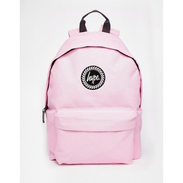 Hype Backpack in Pastel Pink (£25) ❤ liked on Polyvore featuring bags, backpacks, classic pink, pink bag, padded backpack, padded bag, backpacks bags and rucksack bag
