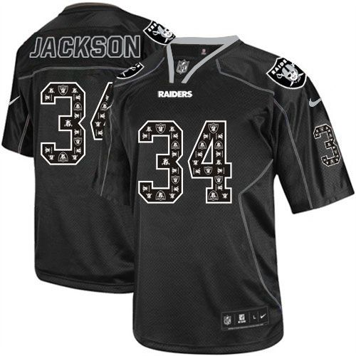 Men's Nike Oakland Raiders Darren McFadden Elite Lights Out Black Jersey