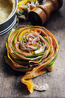 Tarte courgettes et jambon de Bayonne hummmm