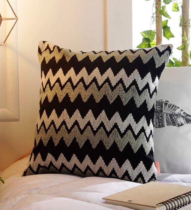 Decorativa Cotone 16x16 Pollici Striking Motivi Geometrici Ricamo All'aperto Cuscino o Cuscino Copertura Per Zona Salotto