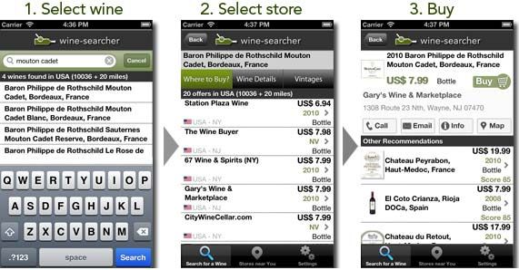 Find, choose and buy wine, all from your iPhone.