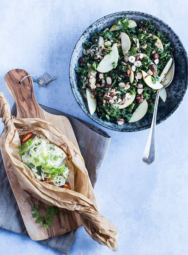 Torsk med salat