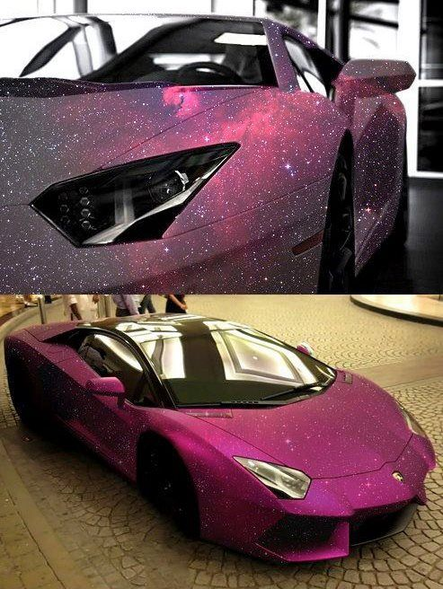 moonblossom:    scienceyoucanlove:    Matte Galaxy paint on Aventador.    And in that moment, I swear we were pretentious Italian sports cars.