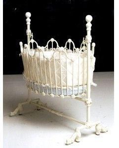 Classic Wrought Iron Baby Cradle