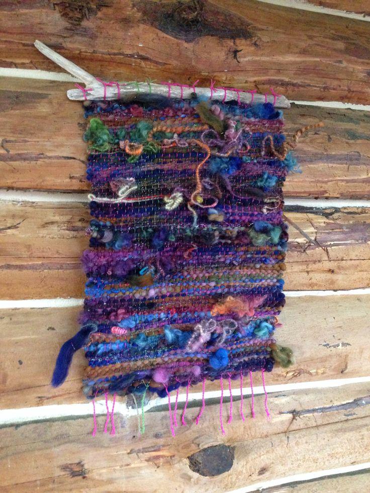 Latest saori weaving from my handspun yarns. Including wire core spun yarn. By pamsfiber
