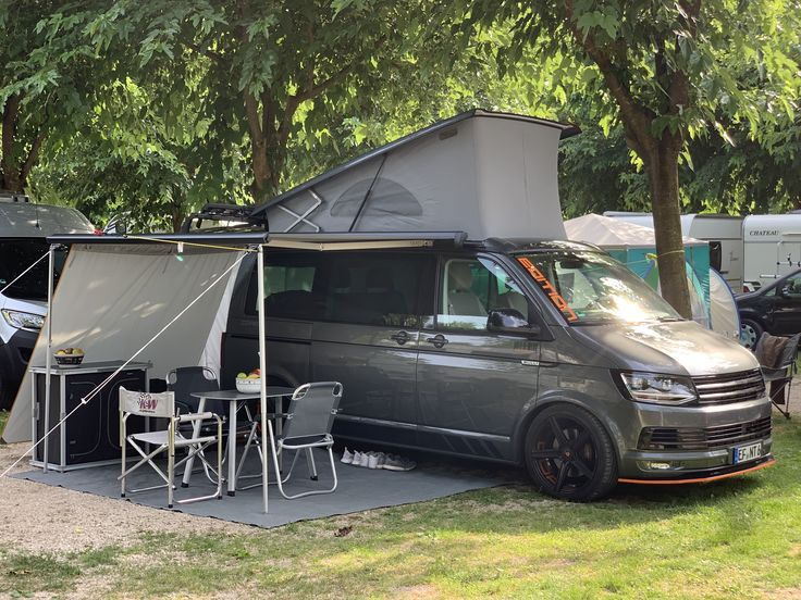 T6 Camping Bus Mit Zubehor Camping Camping Zubehor Zelten