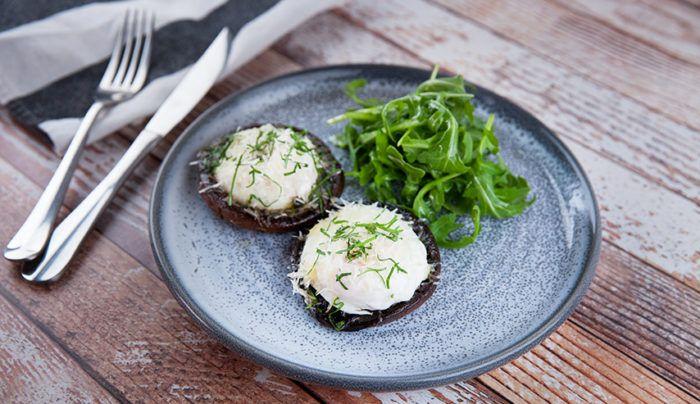 Baked Eggs in Portobello Mushrooms   Good Chef Bad Chef